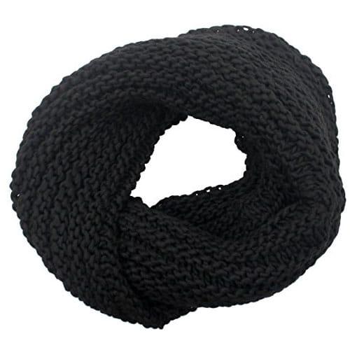 Scaldacollo fatto a maglia col. Nero