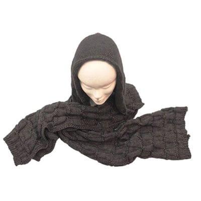 Hooded scarf col. Grey melange