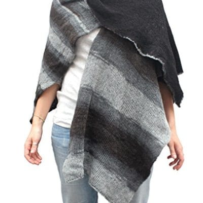 Double face cape col. Grey and Black