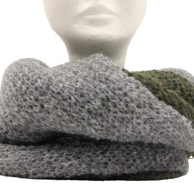 Bicolor neck warmer col. Grey and Green