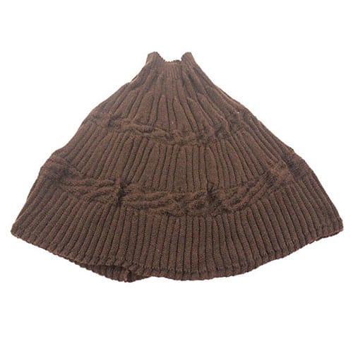 Poncho fatto a maglia col. Marrone