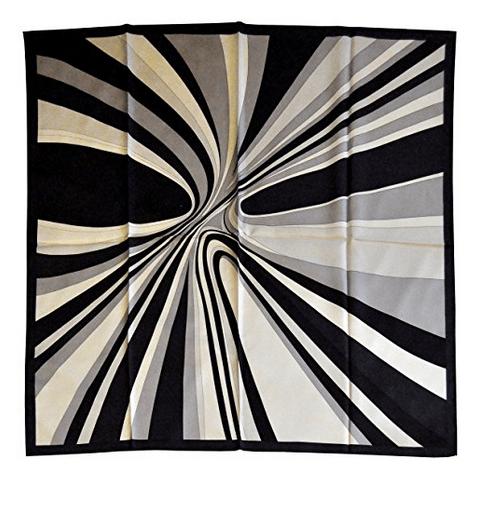 Foulard in seta con disegno moderno col. Bianco e Nero