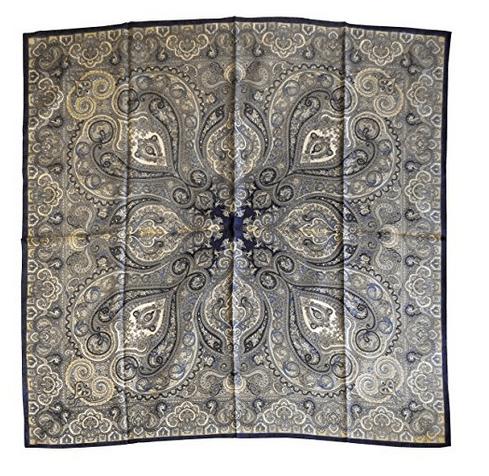 Foulard in seta disegno classico col. Blu scuro