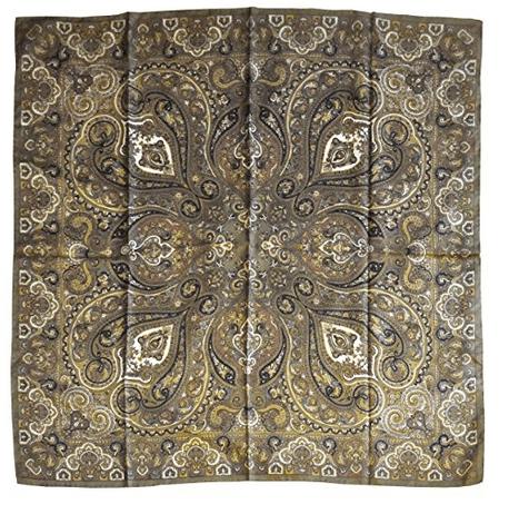Foulard in seta disegno classico col. Verde acido