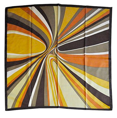 Foulard in seta con disegno moderno col. Variazioni di Giallo