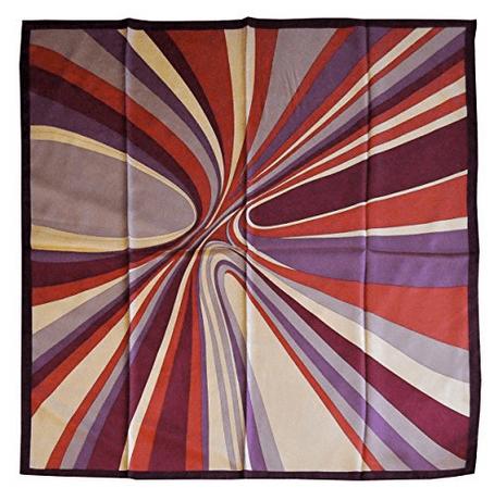 Foulard in seta con disegno moderno col. Variazioni di Viola