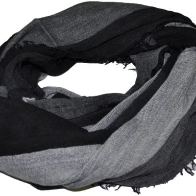 Rectangles patchwork scarf col. Black/Grey