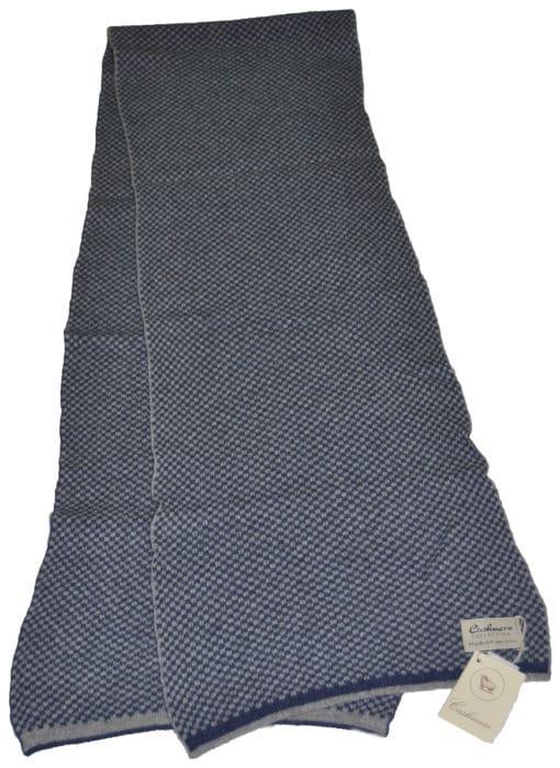 Sciarpa misto cashmere bicolor Col. Blu