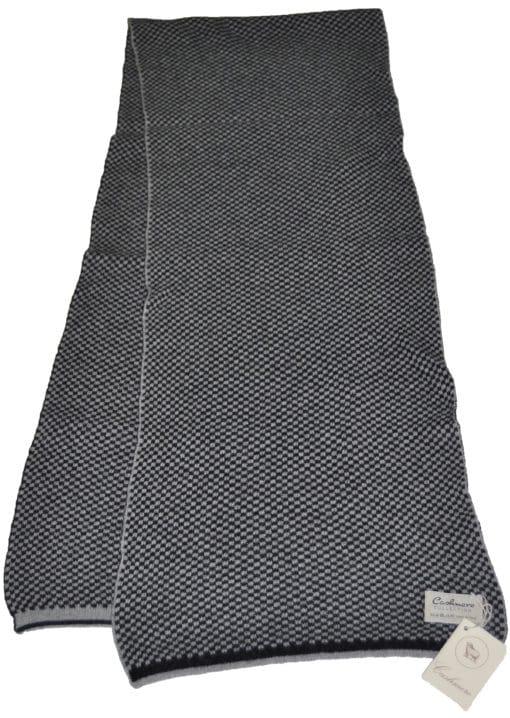 Sciarpa misto cashmere bicolor Col. Nero