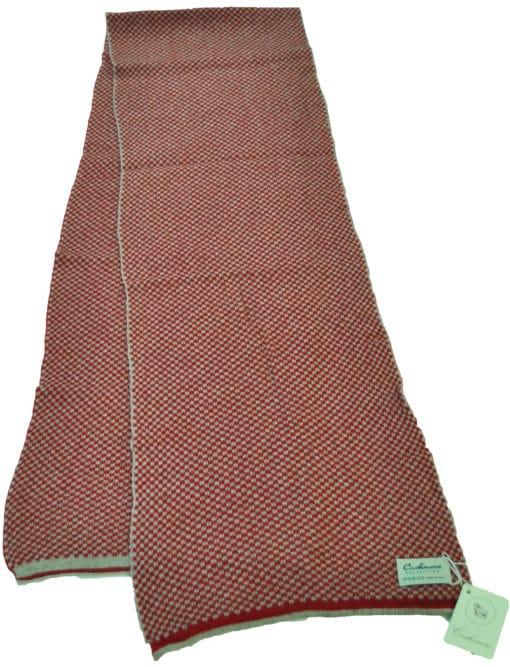 Sciarpa misto cashmere bicolor Col. Rosso