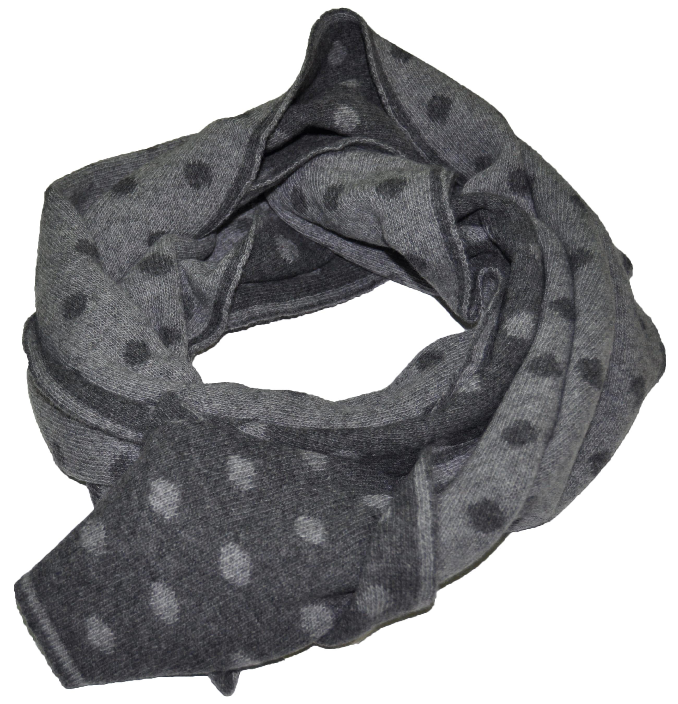 prezzo speciale per spedizione gratuita di modo attraente Sciarpa misto cashmere fantasia pois, bicolor e double face, unisex