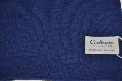 sciarpa misto cashmere tinta unita col. Blu Royal