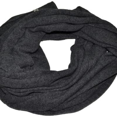 Cashmere blended scarf solid color col. Dark Grey