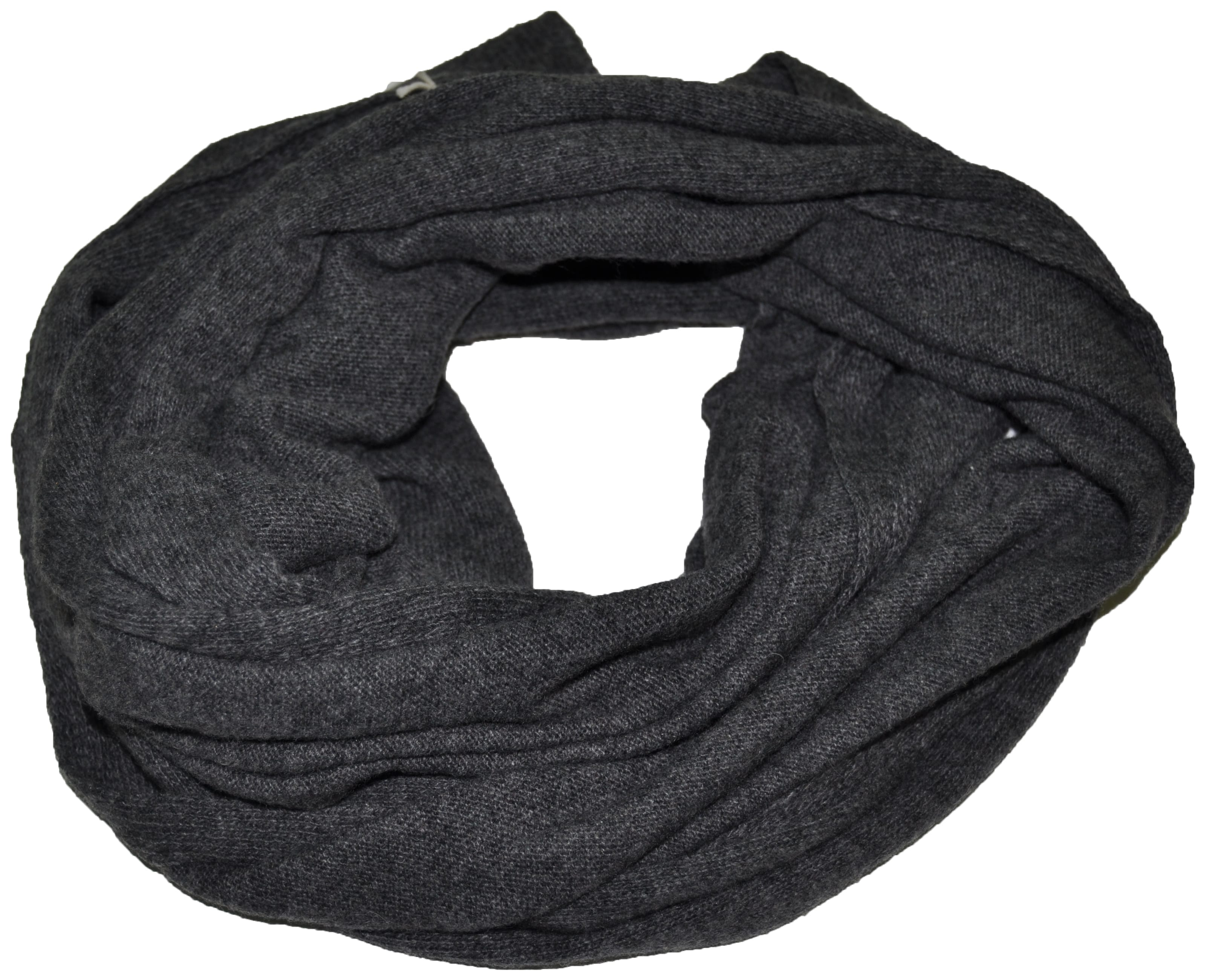 fe206fc6dcdb Cashmere blended scarf solid color col. Dark Grey