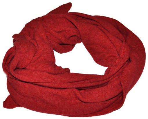 sciarpa misto cashmere tinta unita col. Rosso