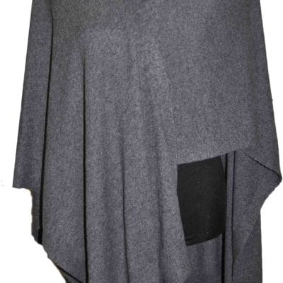 Cashmere blended poncho