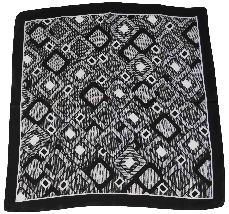"Disegni Geometrici Bianco E Nero foulard di seta con disegno geometrico fantasia ""rombi"""