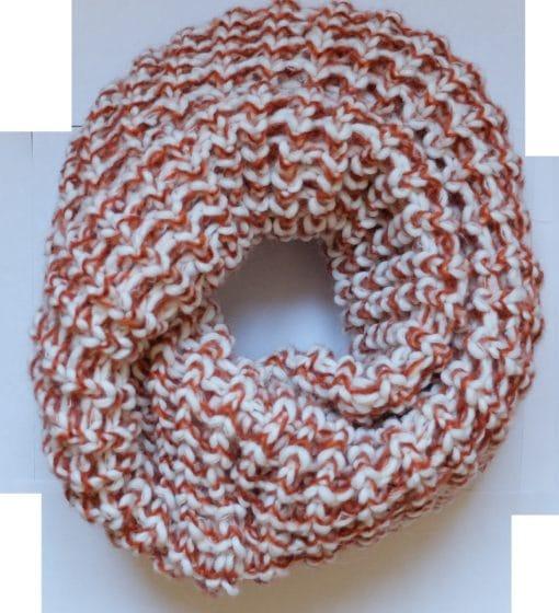 Scaldacollo in maglia col. Arancio/Coccio
