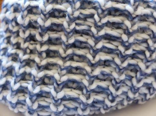 Scaldacollo in maglia col. Jeans