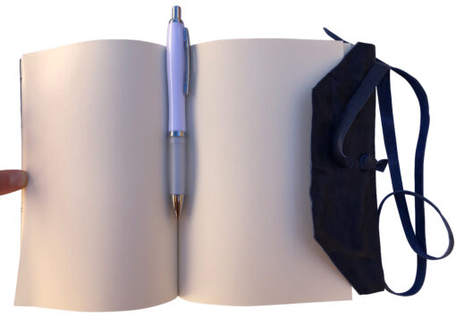 Quaderno Agenda Diario Libro muto rivestito in vera pelle