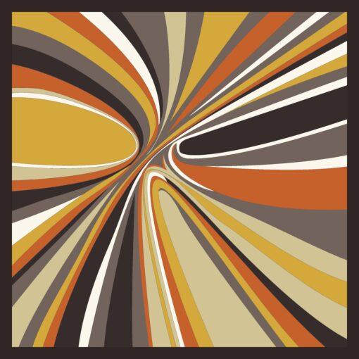 Foulard di seta disegno Hypnotic Arancio