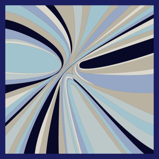 Foulard di seta disegno Hypnotic Navy