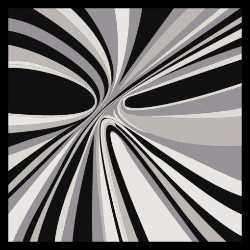 Foulard di seta disegno Hypnotic Nero