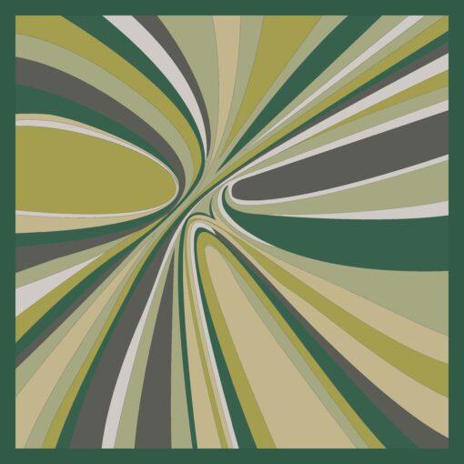 Foulard di seta disegno Hypnotic Verde