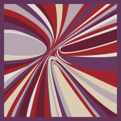 Foulard di seta disegno Hypnotic Viola